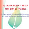 cambodia cop 21 brief - climate adaptation.