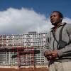 Mazenod resevoir under construction, Lesotho