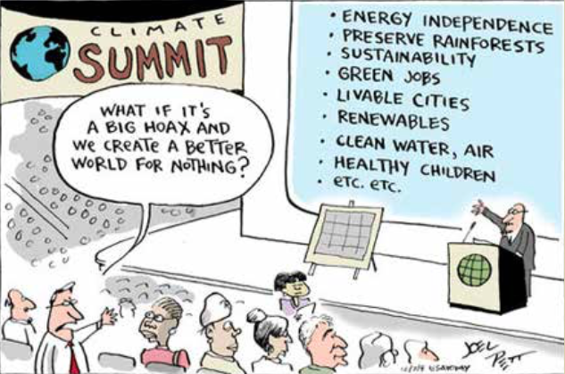 Joe Pett cartoon: Climate Summit